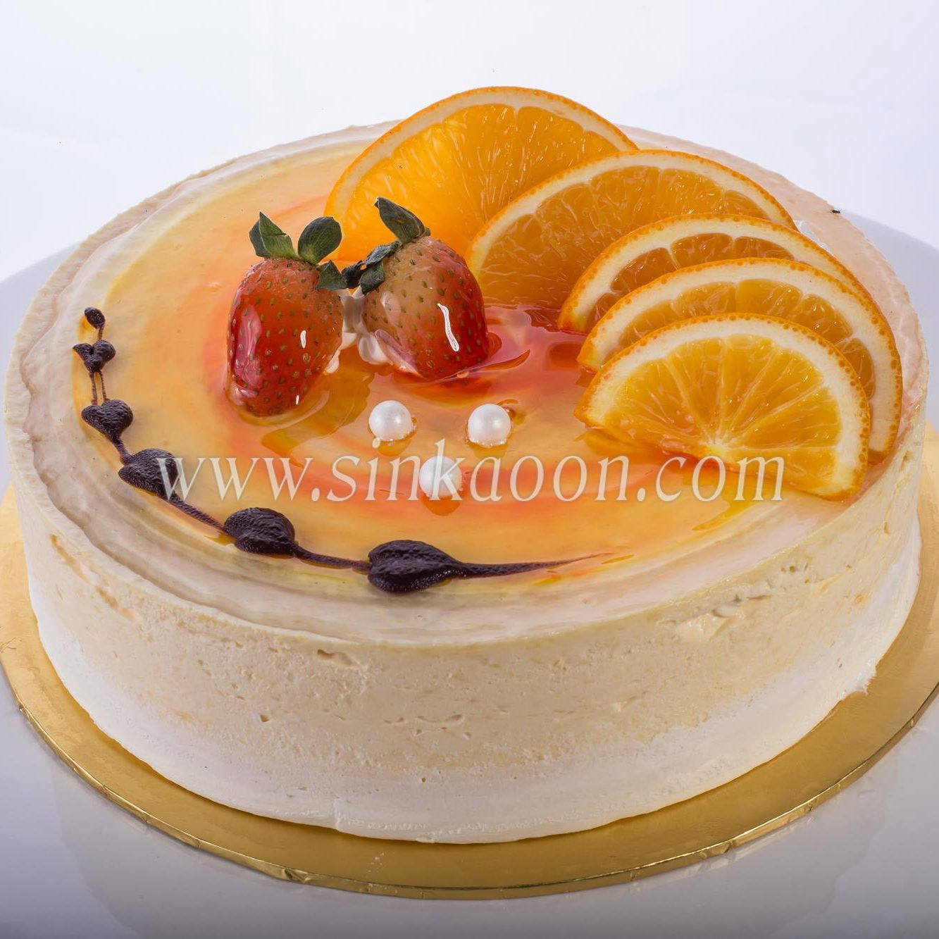 Peaches Mousse Cake